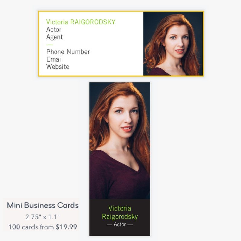 Do actors need business cards actor ceo three incredible choices mini moo size or square colourmoves