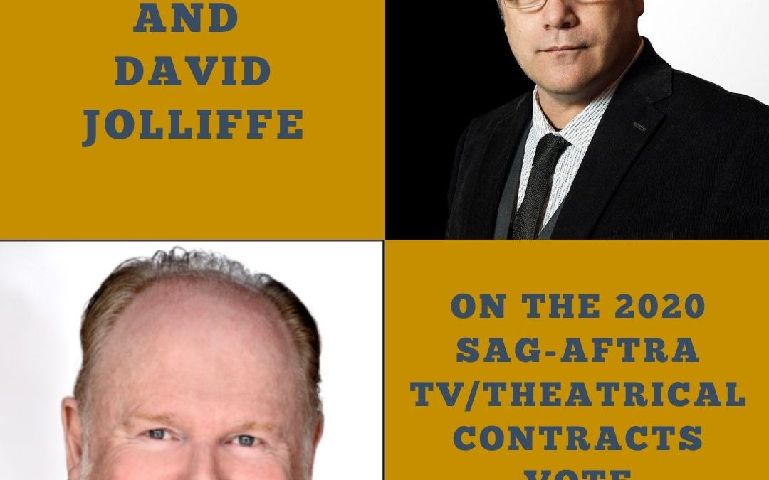 Sean Astin and David Jolliffe on Voting for the SAG AFTRA 2020 TV-THEATRICAL Contracts