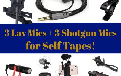 3 Lavalier Mics and 3 Shotgun Mics for Your Self Tapes