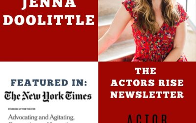 The Actors Rise newsletter with Jenna Doolittle