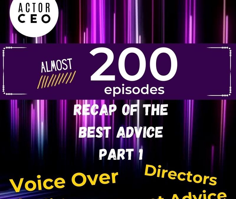 Actor CEO Recap Episode Part 1 Voice Over – Audition – Director – Agents